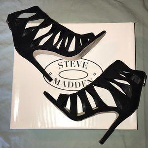 Steve Madden Swyndlee Nubuck Cutout Strappy Heels